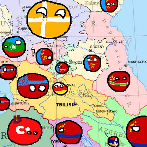 Happy Soviet-Caucasian family