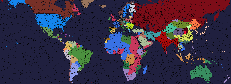 Political map 1936