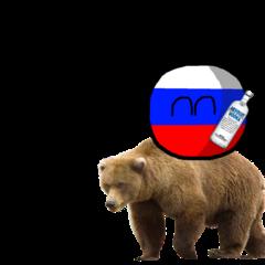 Rosja na niedźwiedziu (bez tła)