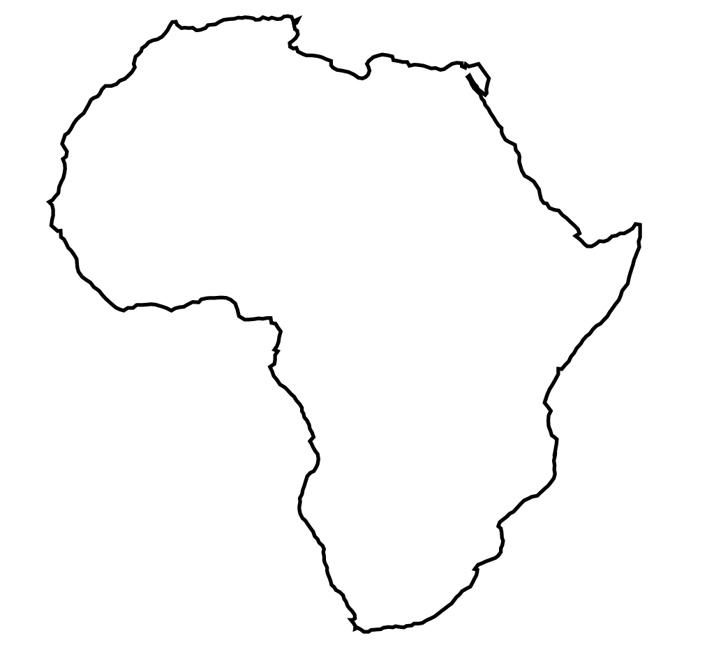 Image - Africa-outline-map.jpg | Polandball Wiki | FANDOM powered by ...