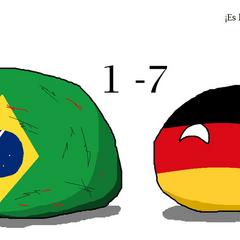 Alusivo a la derrota 7-1 contra Alemania en el mundial de fútbol de 2014