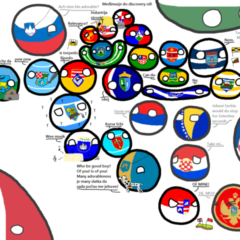 Istriaball on a map of <a href=