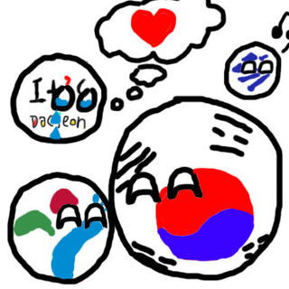 <i>Daejeonball wantings love,</i> Seoulball in the bottom left, <a href=