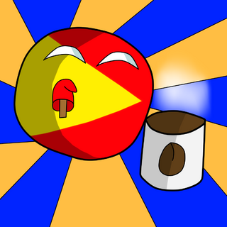 Disfrutando un buen cafe