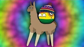 Bolivia On The Llama - COUNTRYBALLS