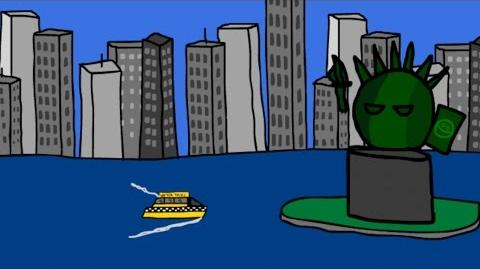 Countryball Animation - A day at New York