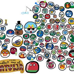Mapa de Letonia versión Polandball