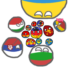 Polandball map of Romania
