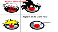Japon en el anime y en la vida real