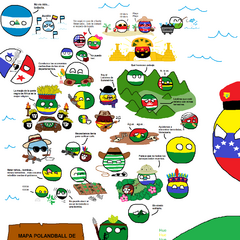 mapa Polandball de Colombia