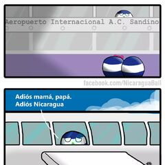 Translation:Bye mom, dad. Bye Nicaragua