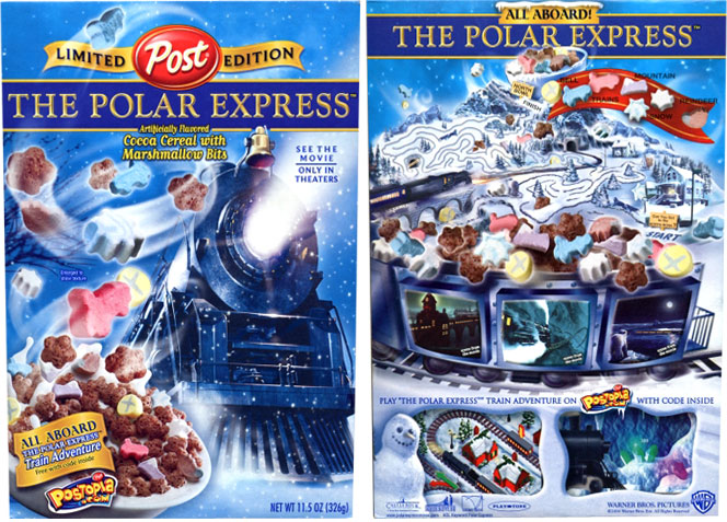 The Polar Express Was A Limited Edition Cereal Based On Film Of Same Name It Released In 2004 By Post To Coincide With Films Release