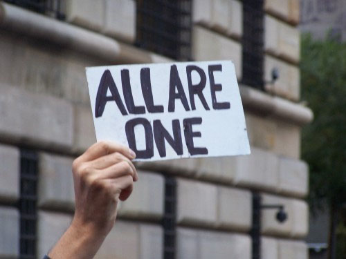 File:Sign- all are one.jpg