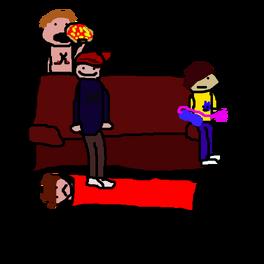 Iconicpolisgamers on sofa