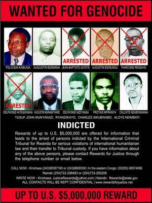 Rwanda genocide wanted poster 2-20-03
