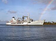 800px-HMCS Provider (AOR 508) at Pearl Harbor 1986