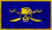 Cobalt Pirate Flag