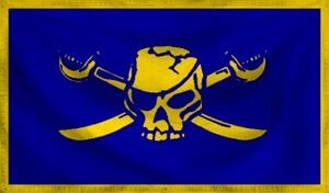 Cobalt Pirate Flag