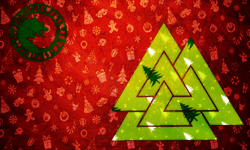 Ragnarok Christmas Flag