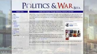 Politics & War In Game Economy & Nation Tiering