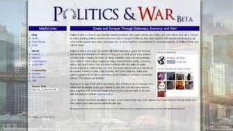 Politics & War In Game Economy & Nation Tiering