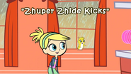 Zhuper Zhide Kicks Title Card