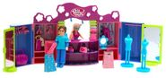 Polly Pocket Club Groove 2 Shop Stop Playset Drew & Polly Dolls