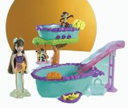 Polly Pocket Fountain Falls Hot Tub Lila