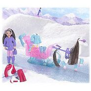 Polly Pocket Snow Cool Sleigh Ride Lila