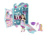 Polly Pocket Sparklin' Pets Dress Up Lila Doll and Pet Cat