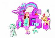 Polly Pocket Sparklin' Pets Dress Up Lea Doll and Pet Puppy