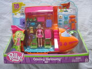 Polly Pocket Groovy Getaway Jet