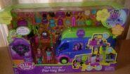 Polly Pocket Club Groove Par-Tay Bus Shani & Polly
