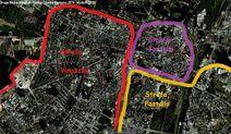 Google Earth Poznań strefy wpływów faza 2