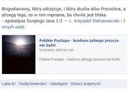 Błogosławieństwo na facebooku