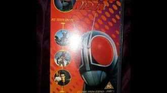 Original VHS Opening Masked Rider Volume 1 (UK Retail Tape)