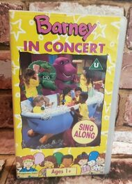 Barney In Concert Sing Along Children's VHS Video Tape Vintage Classic TBLO