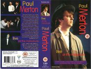STAND-UP COMEDY VIDEO SLEEVE - PAUL MERTON LIVE AT THE PALLADIUM