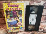 Barney In Concert Sing Along Children's VHS Video Tape Vintage Classic TBLO 2
