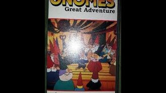Original VHS Closing The Gnomes Great Adventure (UK Retail Tape)