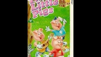 Original VHS Opening The 3 Little Pigs (UK Retail Tape)
