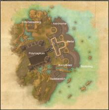 Karte Polymagikum mit Bezeichnungen