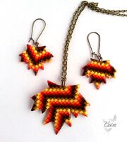 Leaf bargello from claire