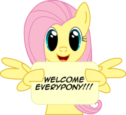 Welcome everypony by fluttershyluv-d4ipwcw