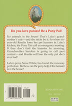 Pony Pals 37 No Ponies in the House back cover