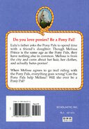 Pony Pals 13 The Girl Who Hated Ponies back cover