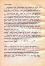 Author Letter from Pony Pals 37