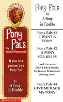 Pony Pals 3 A Pony in Trouble bookmark front and back