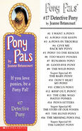 Pony Pals 17 Detective Pony bookmark front and back