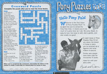Pony Puzzles Plus club newsletter front and back